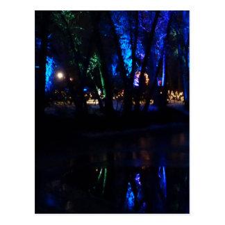 Carte Postale Réflexions bleues
