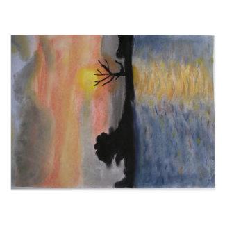Carte Postale Réflexions de coucher du soleil