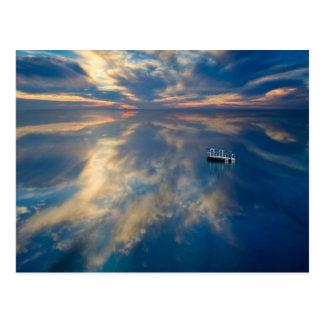 Carte Postale Réflexions de l'eau