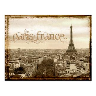 Carte Postale regard vintage de Paris France