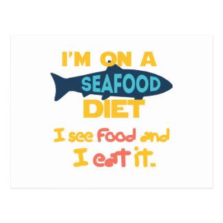Carte Postale Régime de fruits de mer