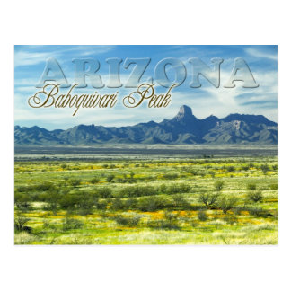 Carte Postale Région sauvage maximale de Baboquivari, Arizona