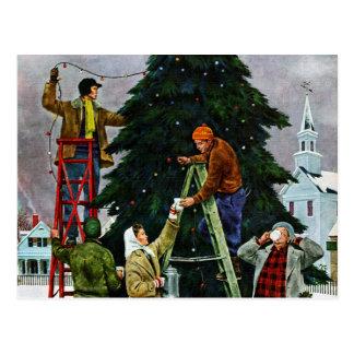 Carte Postale Règlage d'arbre de Noël