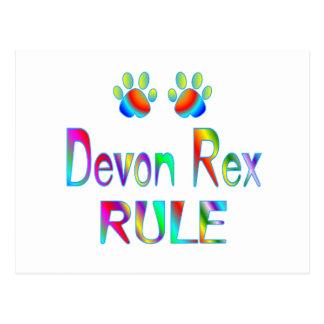 Carte Postale Règle de Devon Rex