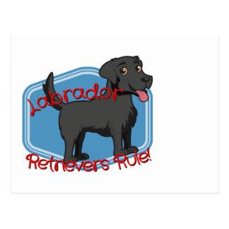 Carte Postale Règle noire de chiens d'arrêt de Labrador !