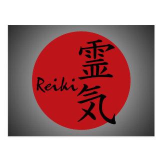 Carte Postale Reiki - rouge