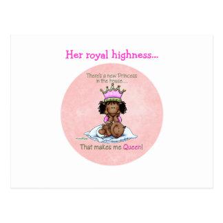 Carte Postale Reine d'Afro-américain - grande soeur