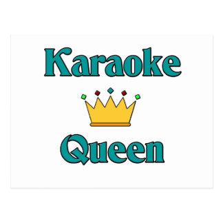 Carte Postale Reine de karaoke