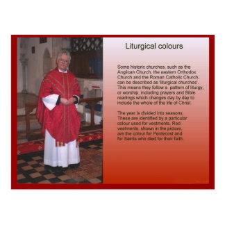Carte Postale Religion, christianisme, couleurs liturgiques