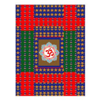 Carte Postale Religion d'hindouisme d'OmMantra ShivaLinga