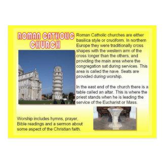 Carte Postale Religion, églises catholiques romaines