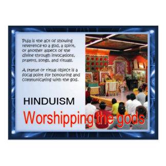 Carte Postale Religion, hindouisme, adorant les dieux