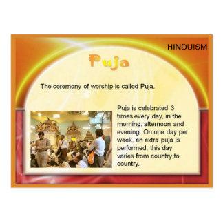 Carte Postale Religion, hindouisme, Inde, Puja indou