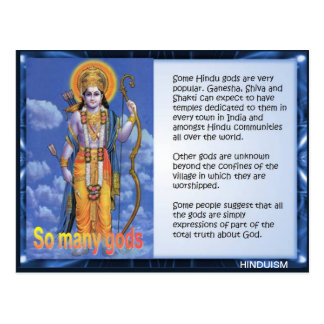 Carte Postale Religion, hindouisme, Inde, tant de dieux