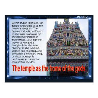 Carte Postale Religion, hindouisme, temple comme maison des