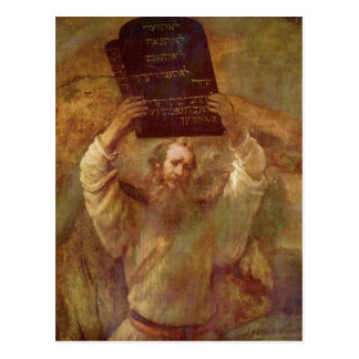 Carte Postale Rembrandt Harmensz. repaire Gesetze de MIT de van