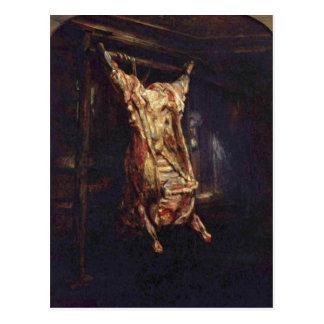 Carte Postale Rembrandt Harmensz. van Rijn Geschlachteter Ochse