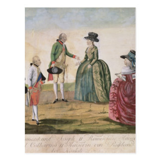 Carte Postale Rencontrant entre Joseph II et impératrice