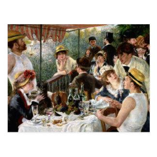 Carte Postale Renoir : Déjeuner de la partie de canotage