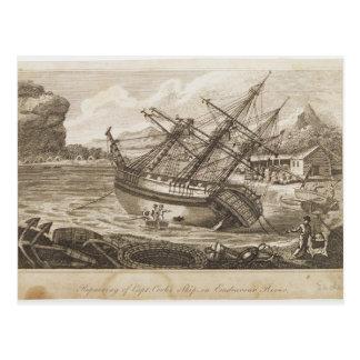 Carte Postale Réparation du bateau de capitaine Cooks