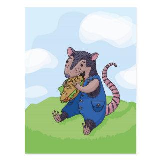 Carte Postale Repas d'opossum