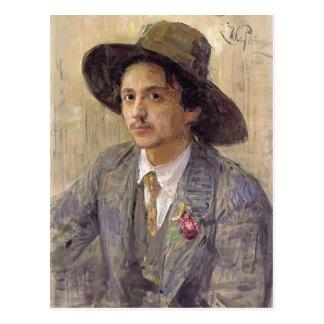 Carte Postale Repin-Portrait d'Ilya du peintre Isaak Brodsky