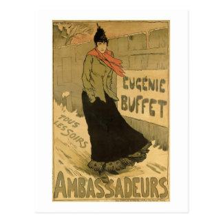 Carte Postale Reproduction cuir épais d'Eugenie de publicité par