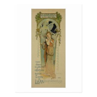 Carte Postale Reproduction d'une publicité par affichage l'opéra