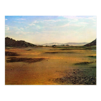 Carte Postale Reproduction Libye vintage, Wadi au Sahara