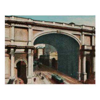 Carte Postale Reproduction monumentale 1925 de porte de Gênes