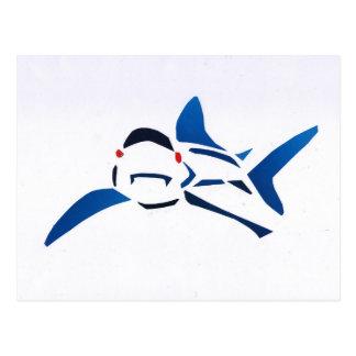 Carte Postale Requin bleu