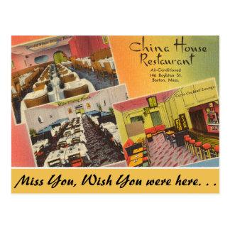 Carte Postale Restaurant de Chambre du Massachusetts Chine,