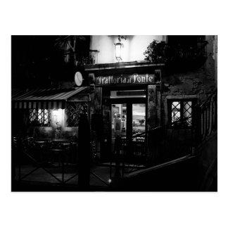 Carte Postale Restaurant de Venise la nuit