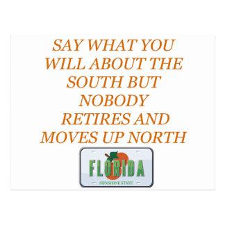 Carte Postale Retirez à la Floride et aux sud