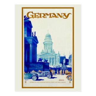 Carte Postale Rétro annonce vintage de voyage de Berlin