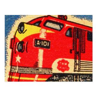 Carte Postale Rétro art vintage de pochette d'allumettes de