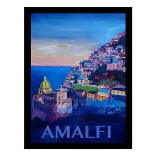 Carte Postale Rétro côte Italie d'Amalfi d'affiche