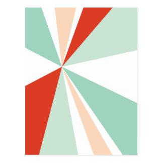Carte Postale Rétro éclat de couleur d'art géométrique moderne