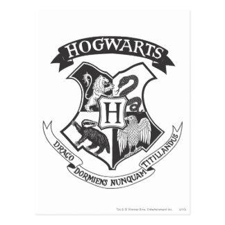 Carte Postale Rétro Hogwarts crête de Harry Potter  