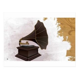 Carte Postale Rétro joueur de phonographe