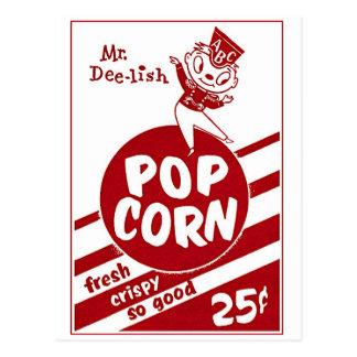 Carte Postale Rétro M. vintage Dee-lish de maïs éclaté de kitsch