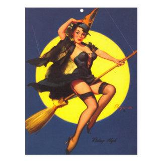 Carte Postale Rétro Pin vintage de Gil Elvgren vers le haut de