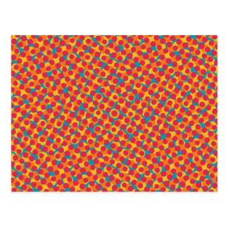Carte Postale Rétro polka pointillée