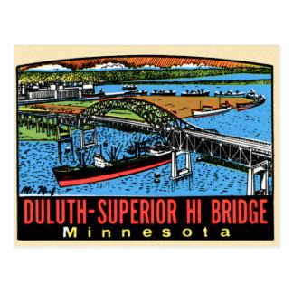 Carte Postale Rétro pont vintage de manganèse de Duluth de