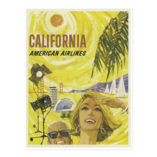 Carte Postale Rétro publicité de la Californie de lignes