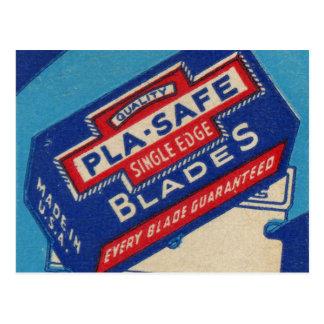 Carte Postale Rétro rasoir vintage de la pochette d'allumettes