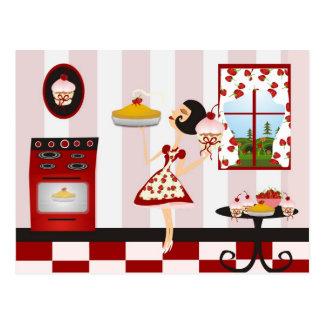 Carte Postale Rétro recette de cuisine familiale