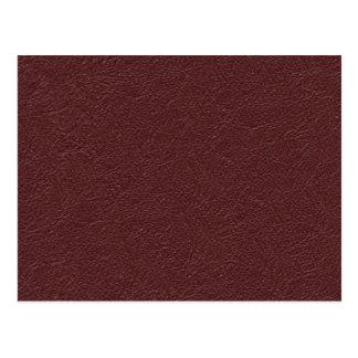Carte Postale Rétro texture en cuir marron grunge