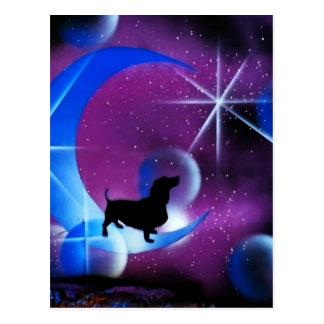 Carte Postale Rêves de teckel