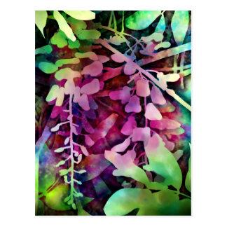 Carte postale rêveuse de glycines